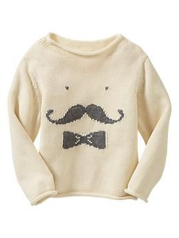 Intarsia moustache sweater | Gap but very Oeuf-esque