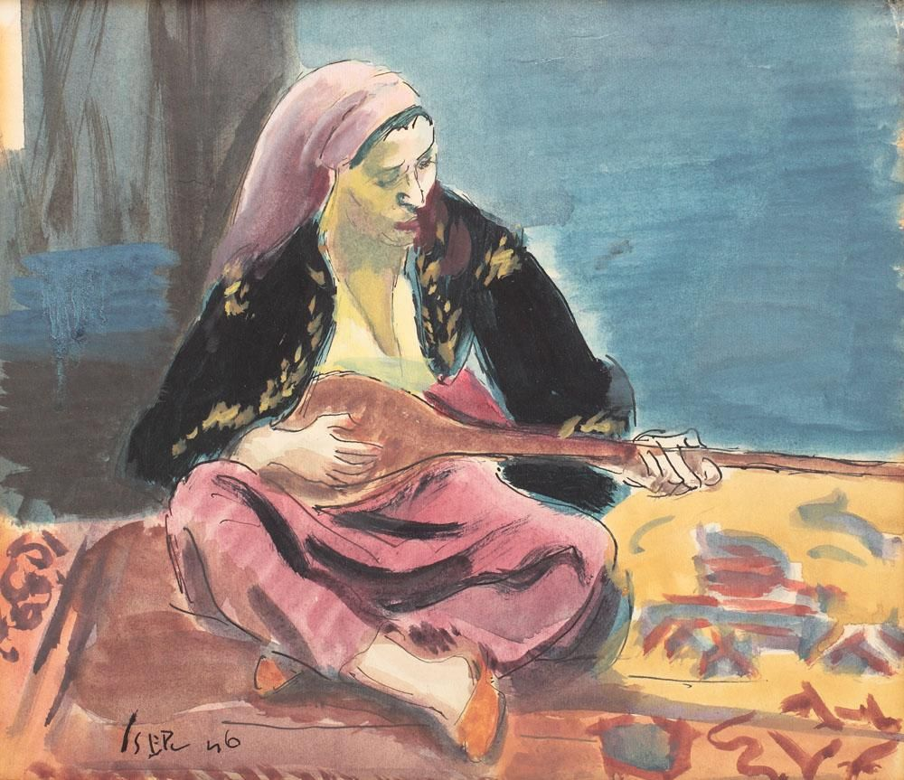 Tatar Woman - Iosif Iser - WikiArt.org - encyclopedia of