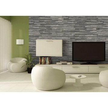plaquette de parement petra en pierre naturelle gris appartement france pinterest salons. Black Bedroom Furniture Sets. Home Design Ideas