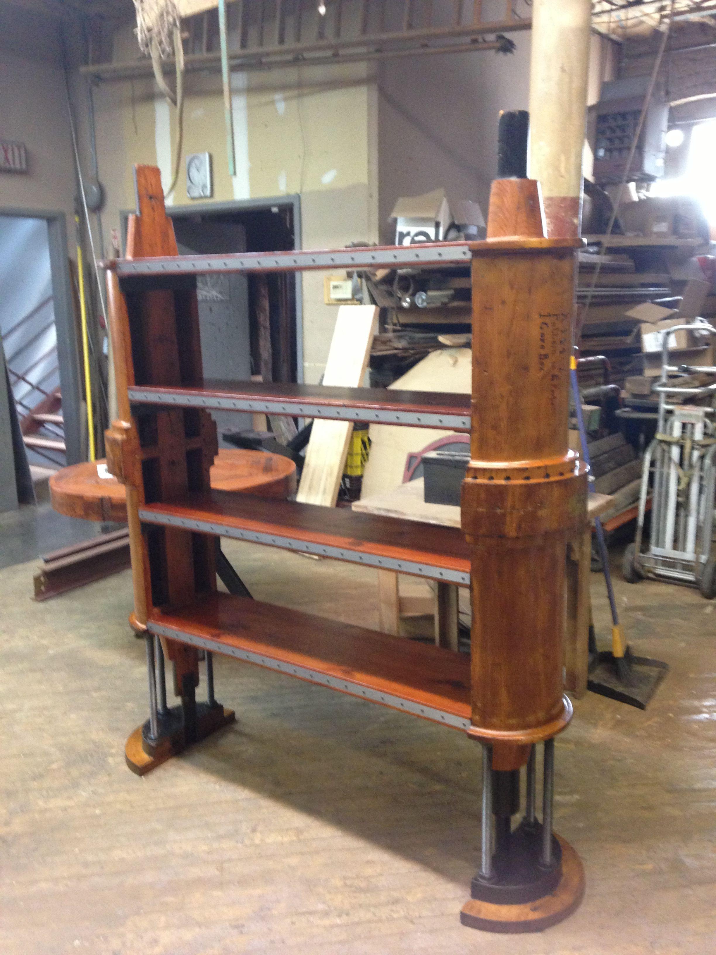 Fine Open Bookshelf With Reclaimed Lumber Reclaimed Wood Download Free Architecture Designs Parabritishbridgeorg
