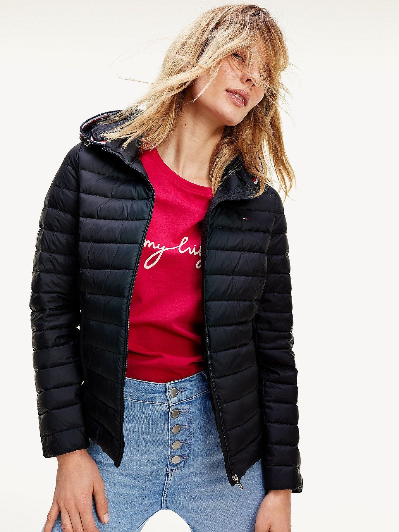Essential Packable Down Jacket Black Tommy Hilfiger Women S Coats Jackets Outerwear Jackets Tommy Hilfiger [ 1819 x 1364 Pixel ]