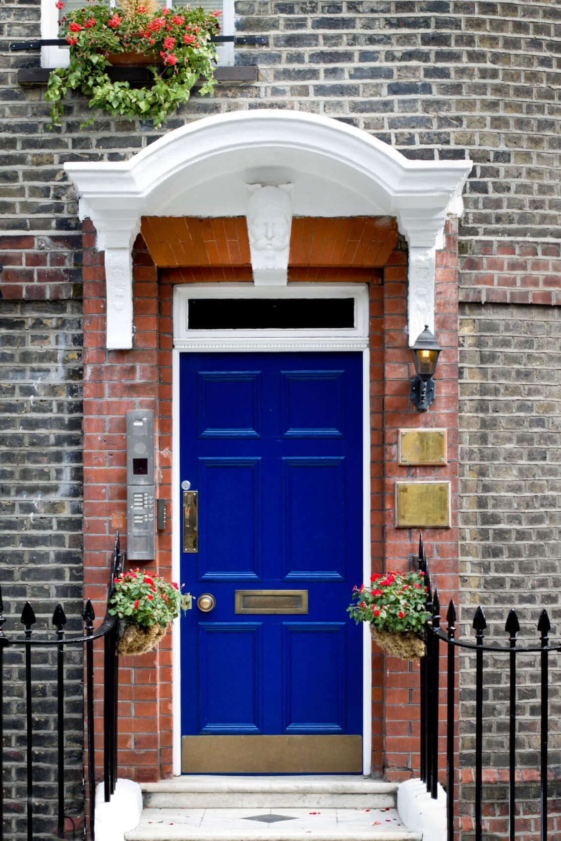 21 Cool Blue Front Doors for Residential Homes | Brick molding ...