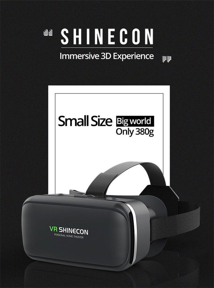 52829c046a Casque Stereo Shinecon VR Box Virtual Reality Glasses 3D Goggles Headset  free sh #VRShinecon