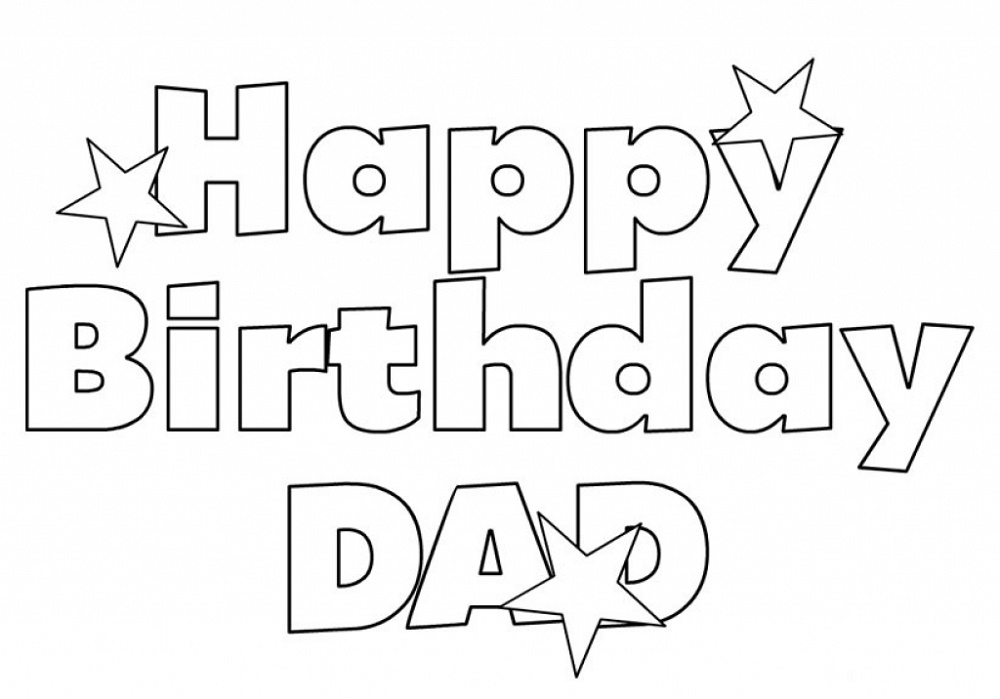 Happy Birthday Dad Coloring Pages Printable (With images ...