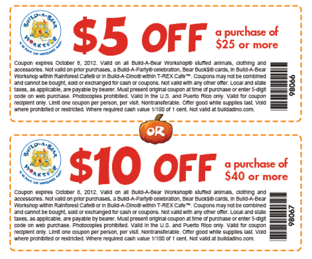 graphic about Build a Bear Printable Coupon called $10 off $40 at Produce A Go through workshop, or on-line through checkout