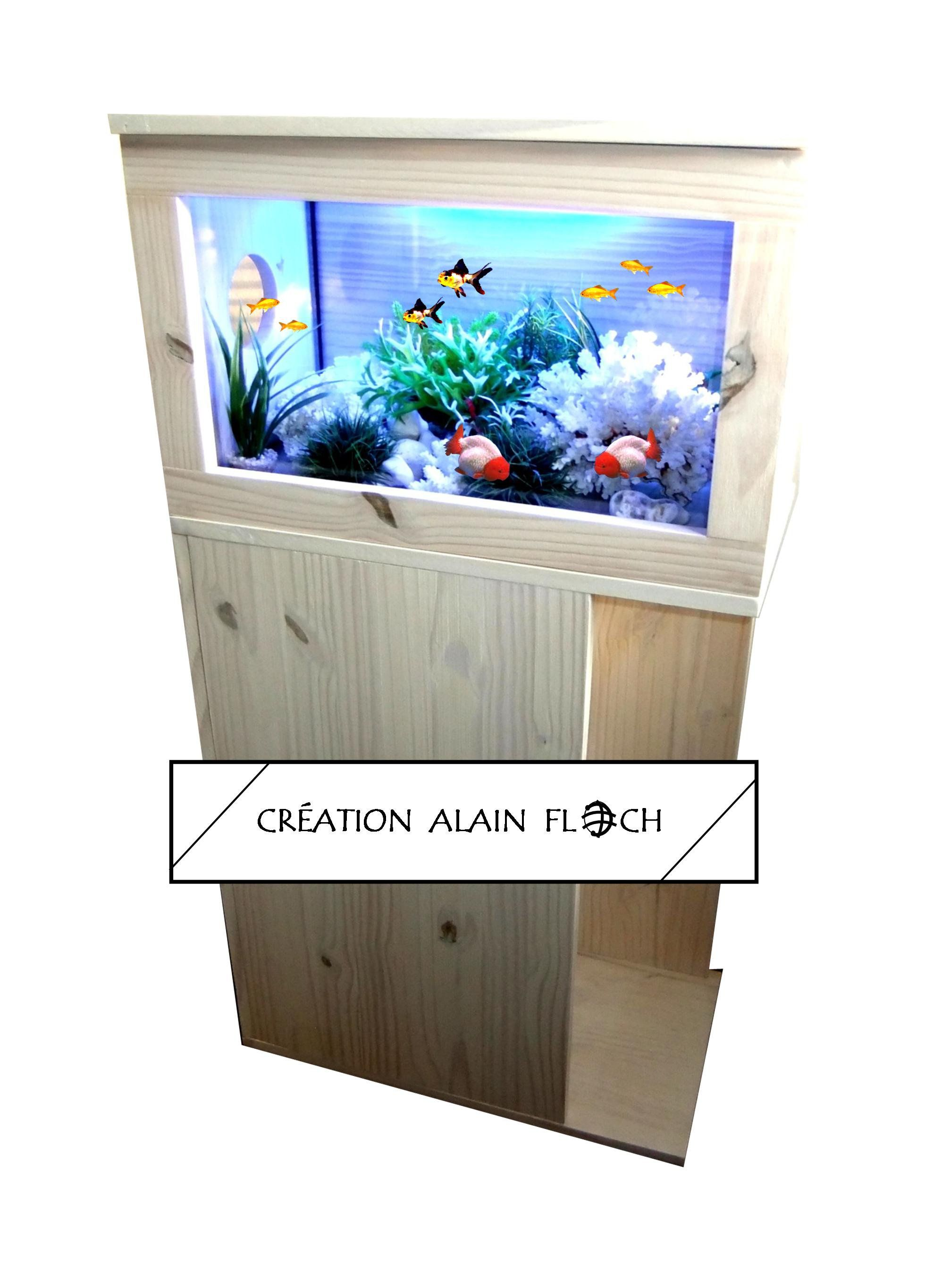Aquameuble 3 Meuble Aquarium Avec Clairage Bleu Aquarium  # Aquarium Meuble Tv