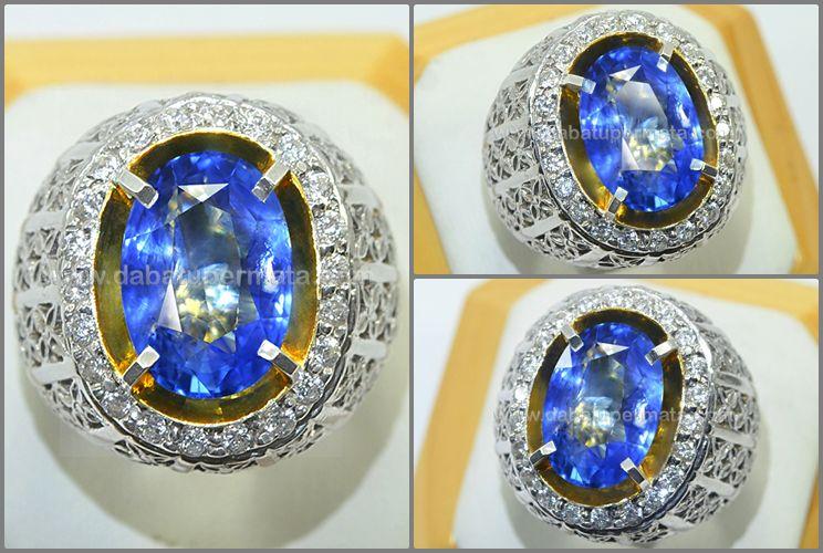 Natural Blue Safir No Heat Sri Lanka Antik Langka Spc 168 Sertifikat Rings For Men Beautiful Jewelry Gemstones