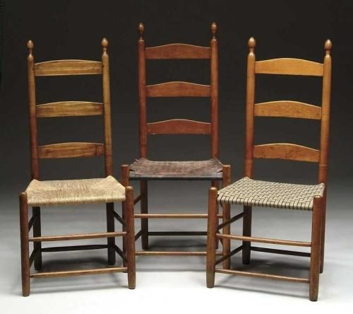 SHAKER LADDER-BACK CHAIRS - SHAKER LADDER-BACK CHAIRS Classic Furniture Pinterest