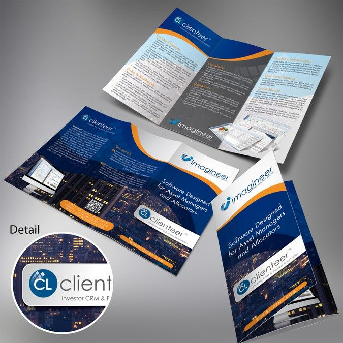 Financial Software Fold Brochure Guidelines Provided By