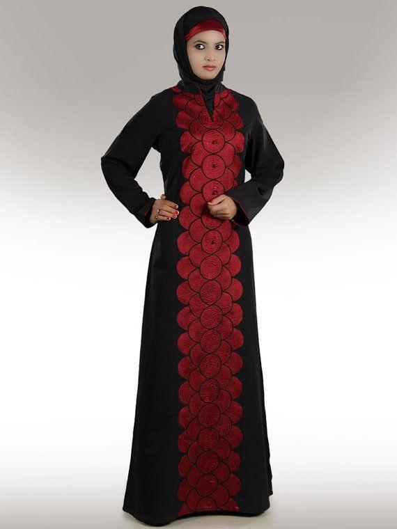 115ba5c95815 Black Art Silk Readymade Abaya with Hijab
