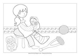 First Aid Coloring Pages Little Girl With Broken Leg Colouring