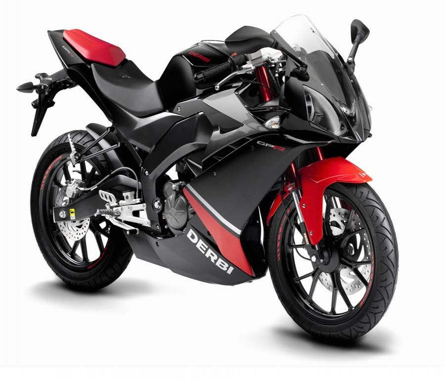 Derbi GPR 125 Red And Black Sports Bike HD Desktop