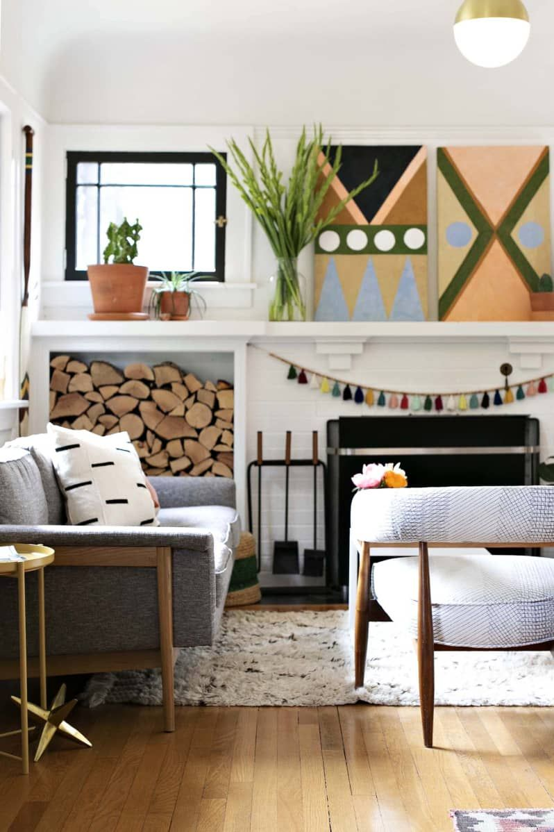"""Small Living Room Apartment Therapy: A Small """"Swedish Bungalow"""" In Portland Is DIYed And"""