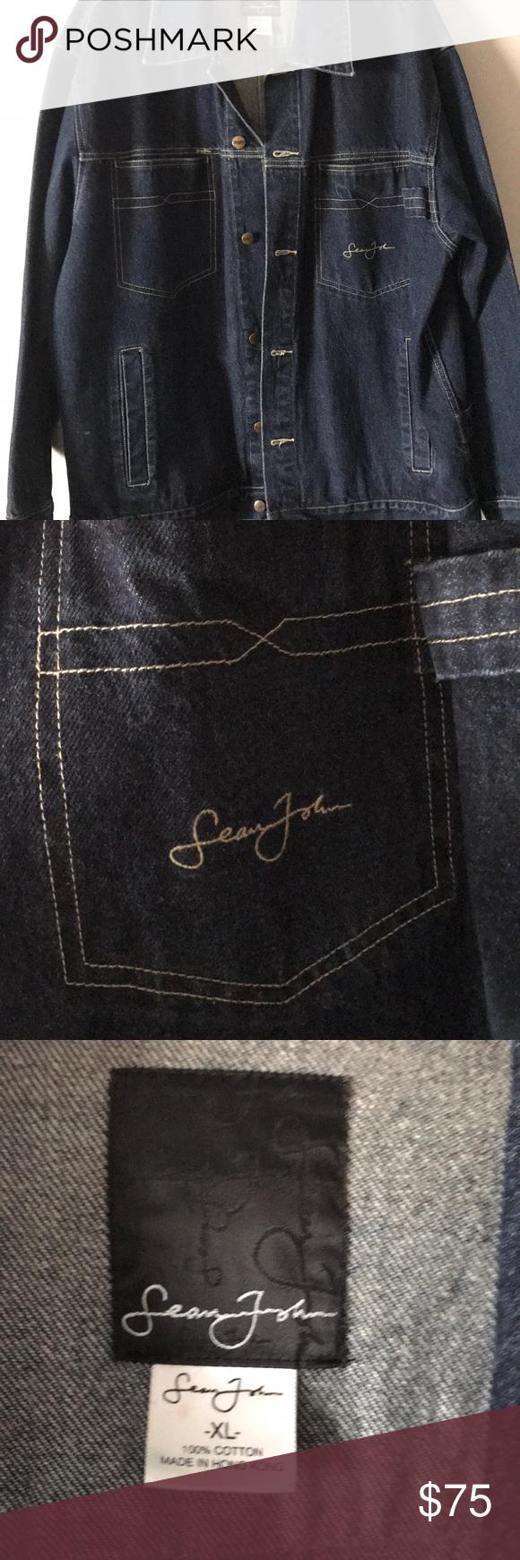 Vintage Sean John Denim Jacket Denim Jacket Jackets Denim Jean Jacket [ 1740 x 580 Pixel ]