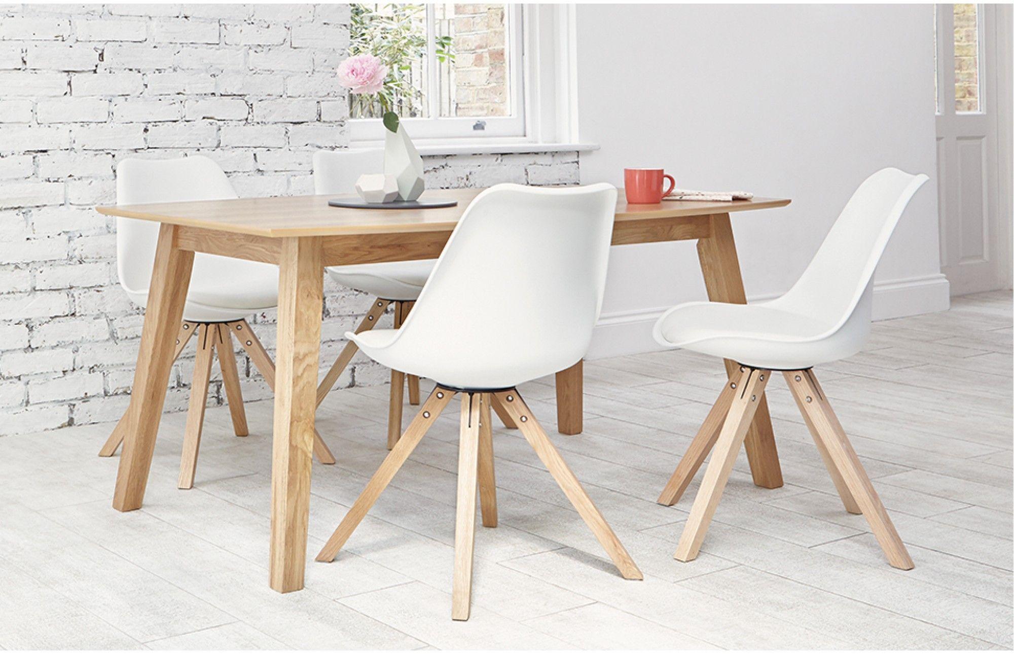 Elegant Bojan   Dining Set   4 Seats   White
