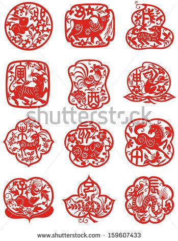 2ca5a7173 Vector illustration of 12 Chinese zodiac signs by Hung Chung Chih, via  Shutterstock