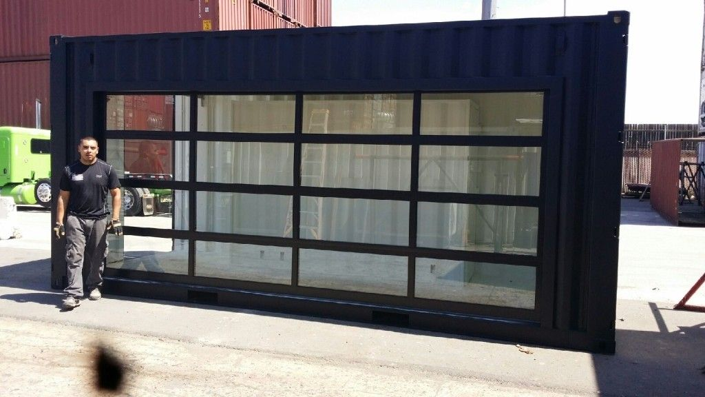 Commercial Glass Garage Door Full View Aluminum Clear Glass