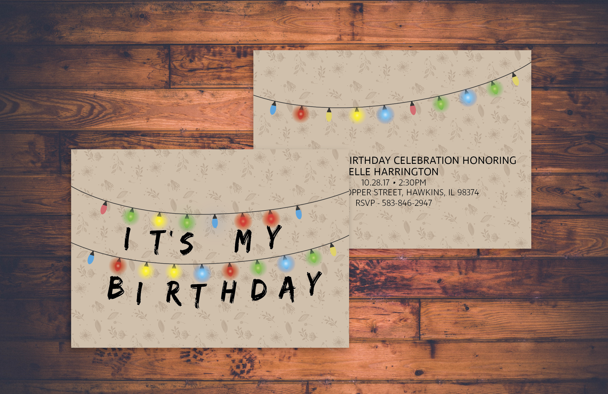 Stranger things birthday party invite eleven hawkins lab stranger things birthday party invite eleven hawkins lab invitation netflix bday stopboris Choice Image