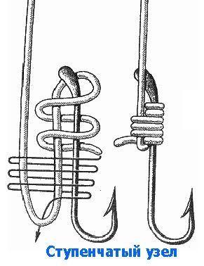 вязка рыболовных крючков