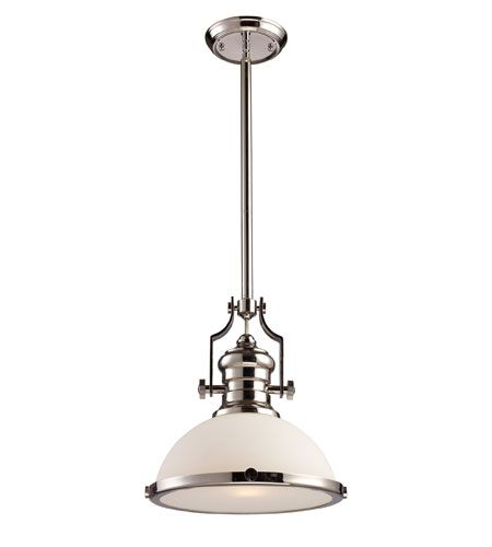 Elk 66113 1 chadwick 1 light 13 inch polished nickel pendant ceiling elk 66113 1 chadwick 1 light 13 inch polished nickel pendant ceiling light in standard aloadofball Image collections