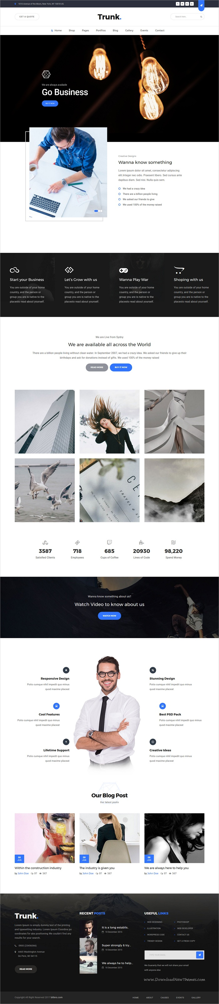 Trunk - Multipurpose Business and Corporate HTML Template