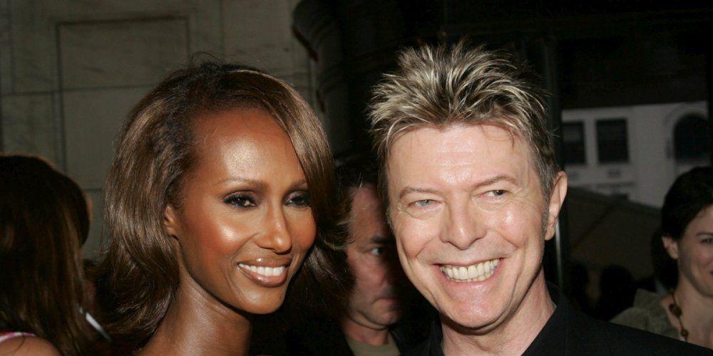 David Bowie et sa femme, la top modèle Iman, en 2005.