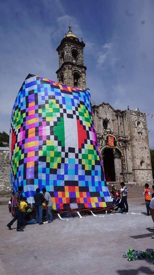 Serge Speer, globo de papel en San Juan Totolac Tlaxcala