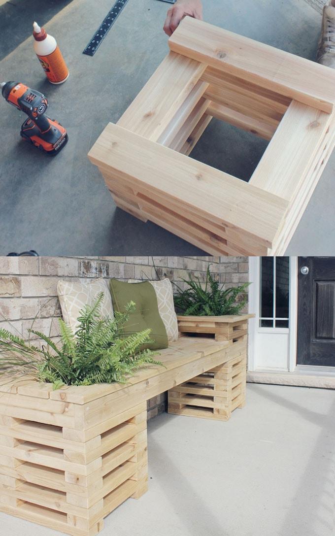 21 Easy DIY Benches (Indoor & Outdoor!) in 2020