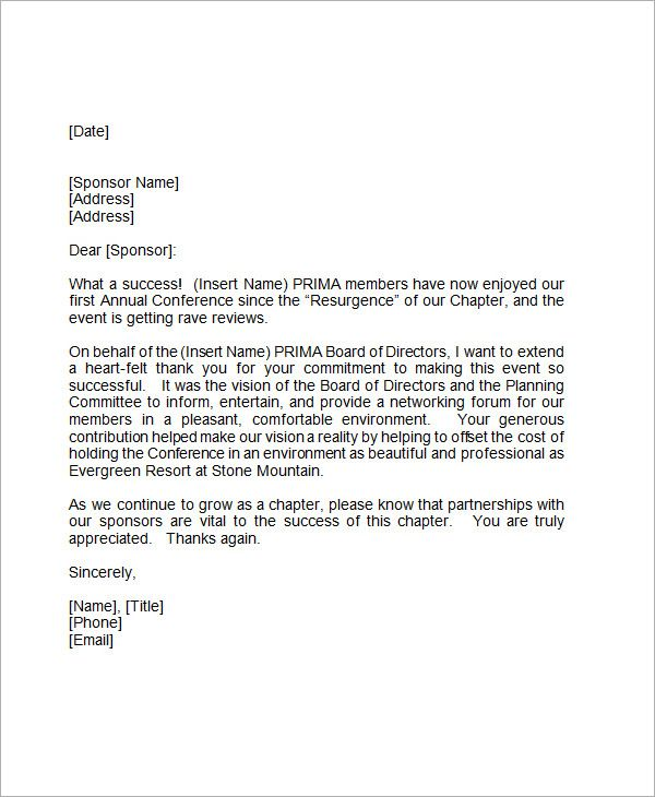 Thank You Letter Format Professional Thank You Letter Download Free
