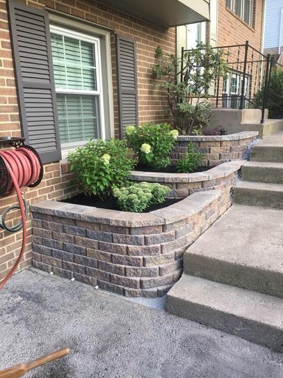Retaining Wall Bricks Home Depot : retaining, bricks, depot, Pavestone, Sierra, Blend, Concrete, Retaining, Block-80777, Depot, Stone, Landscaping,, Front, Garden, Landscape,, Backyard, Landscaping