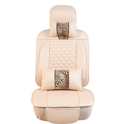 10 pcs set Leopard Knitted Fabric Cushion Mat For All Auto Car Seat cover A009