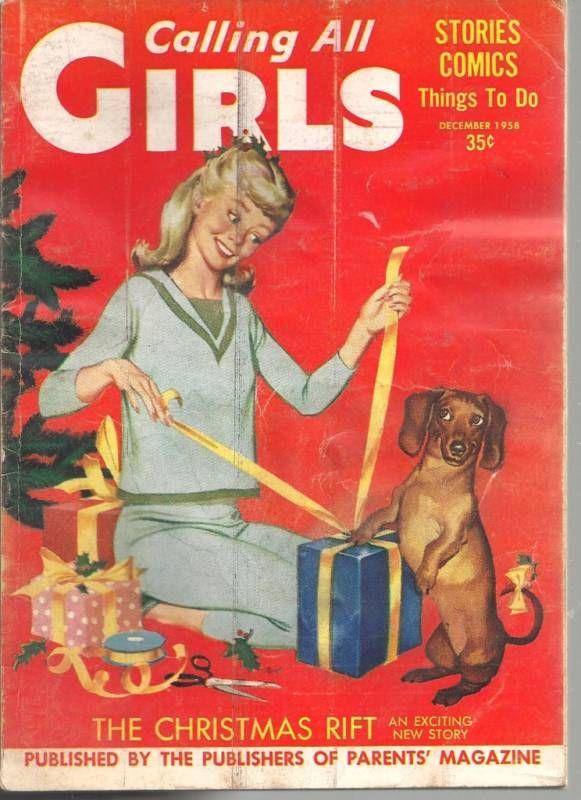 Calling All Girls magazine. The girl looks like, my friend, Debbie!