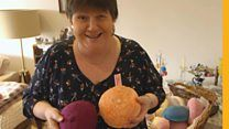 Knitted knockers for breast cancer survivors - BBC News