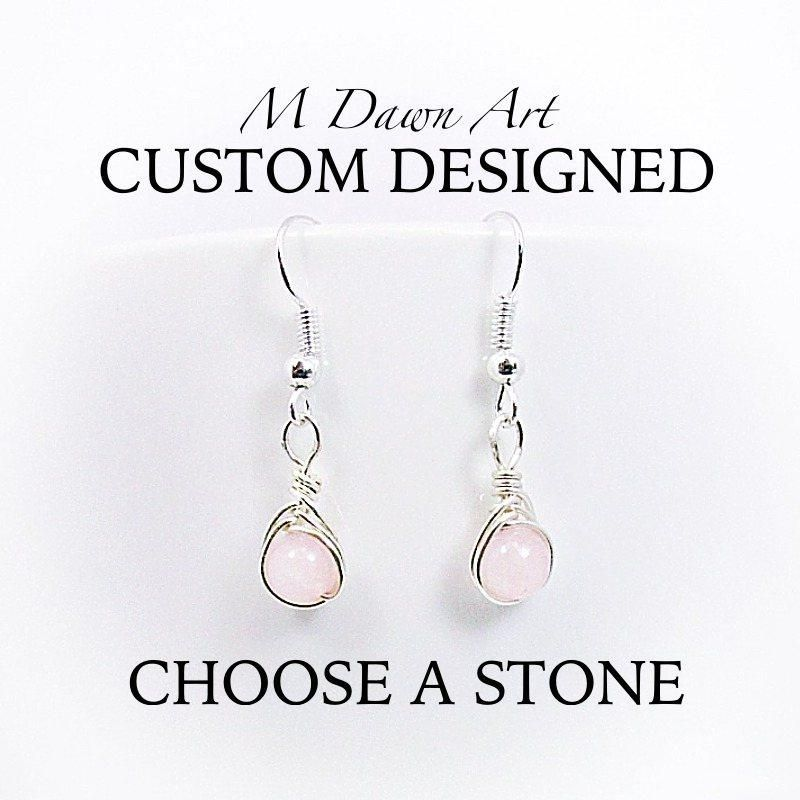 Custom Handcrafted Natural Stone Sterling Silver Teardrop ...