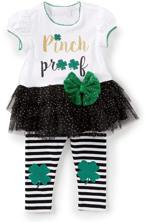 Bonnie Jean Baby-Girls St Patricks Day Shamrock Legging Set
