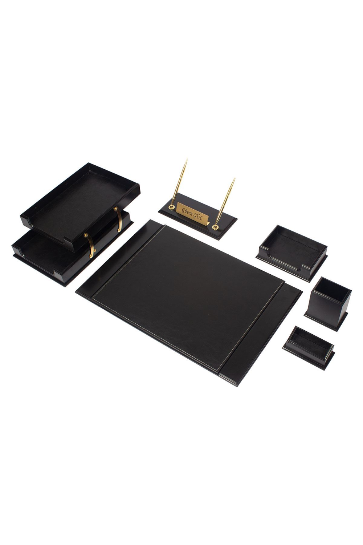 Wooden Prestige Desk Set Black 8 Accessories 2020 Taki Siyah Renkler