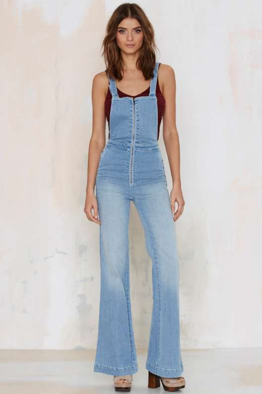 Rolla's East Cost Denim Flare Overalls - What's New
