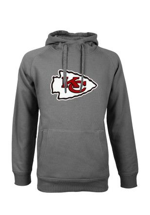best service cfd9a e5ea6 Antigua KC Chiefs Mens Grey Victory Hoodie   NFL - Kansas ...