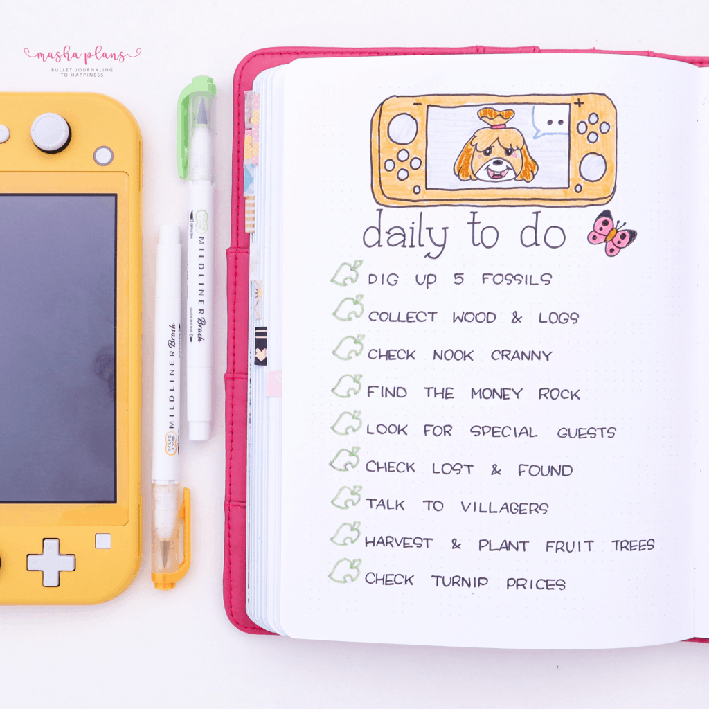 51+ Animal Crossing Bullet Journal Inspirations