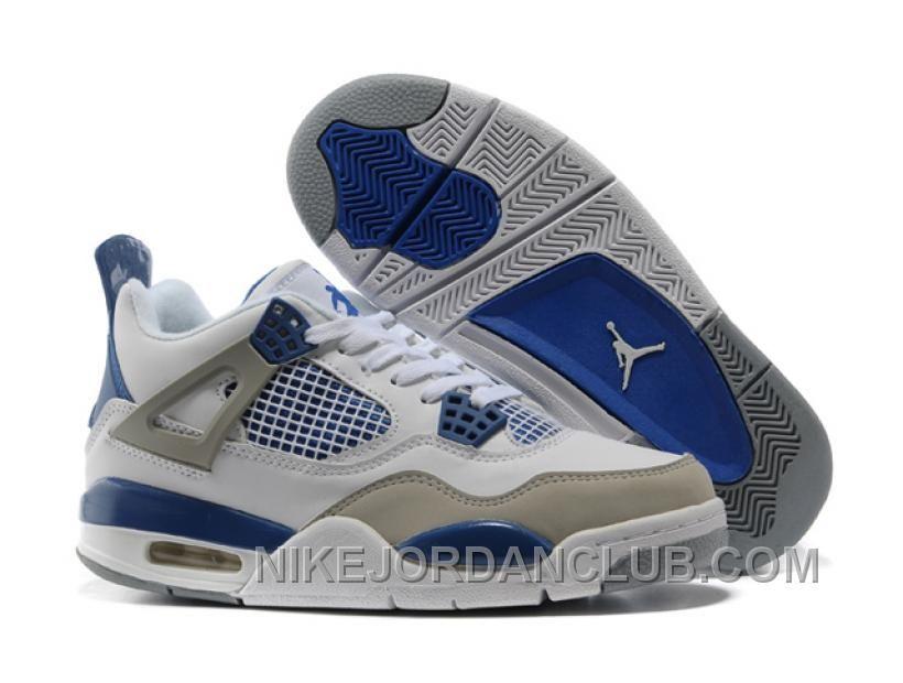 Nike Air Jordan 4 Blue Womens Basketball Shoes
