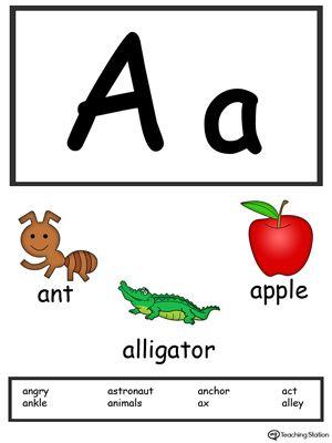 002 Preschool and Kindergarten Worksheets Alphabet cards