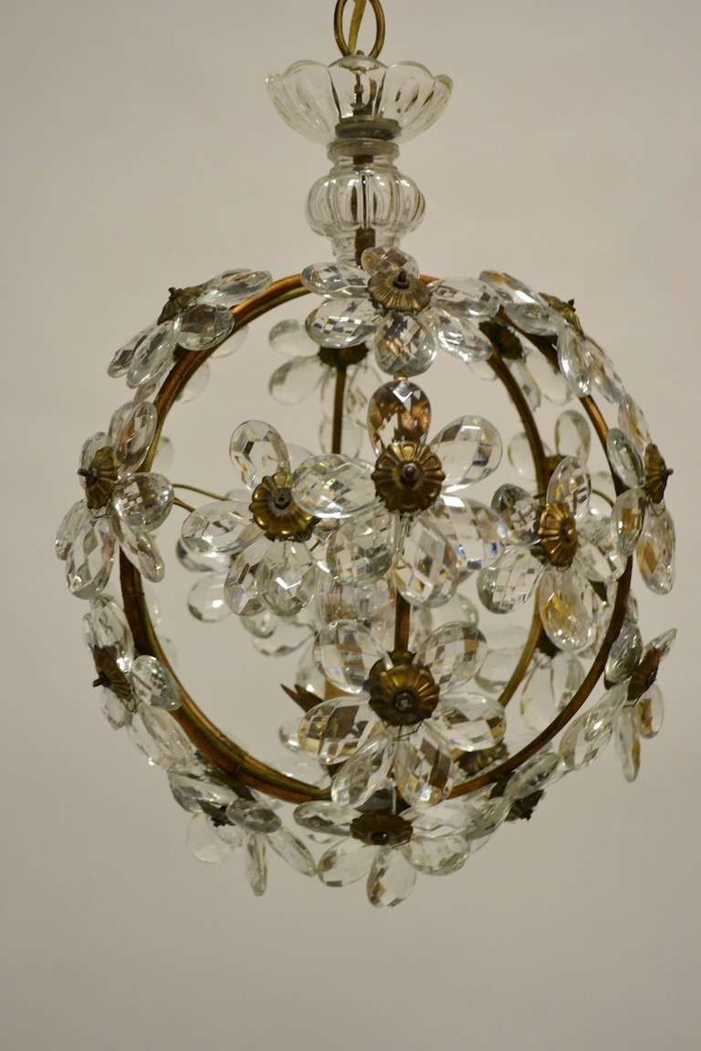 Floral glass ball chandelier glass ball pendants and chandeliers floral glass ball chandelier arubaitofo Image collections