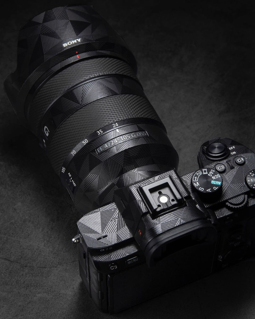 The Sony FE 24105mm f/4 G OSS lens paired with the A7iii