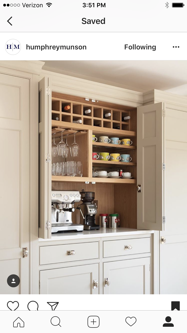 Küchenideen für weiße schränke küchenschrank für wein und kaffee  kitchen  pinterest  küchen