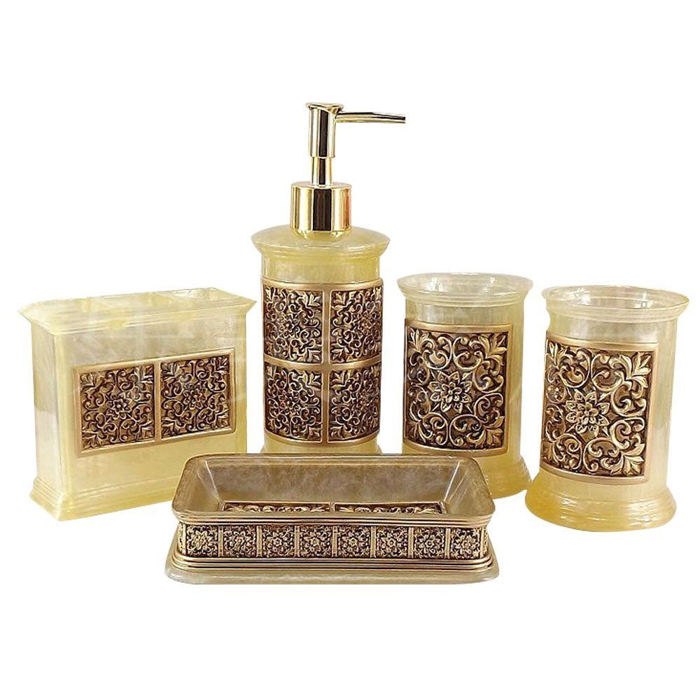 Amazon Com 5pcs Vintage Classic Luxury Bathroom Bath 3d Decor