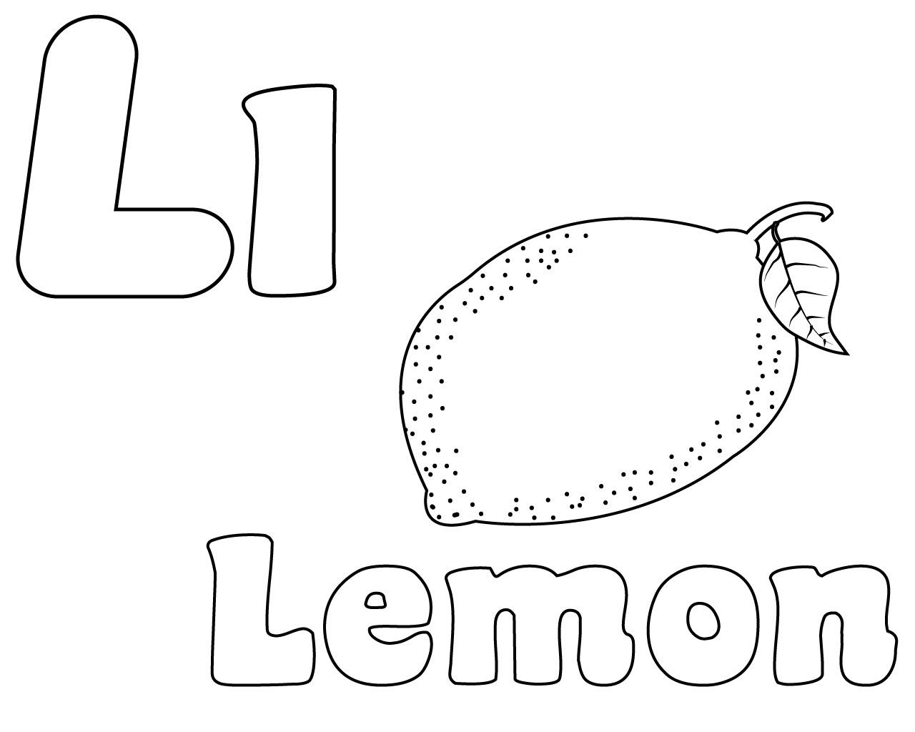 Letter L Coloring Pages For Preschoolers