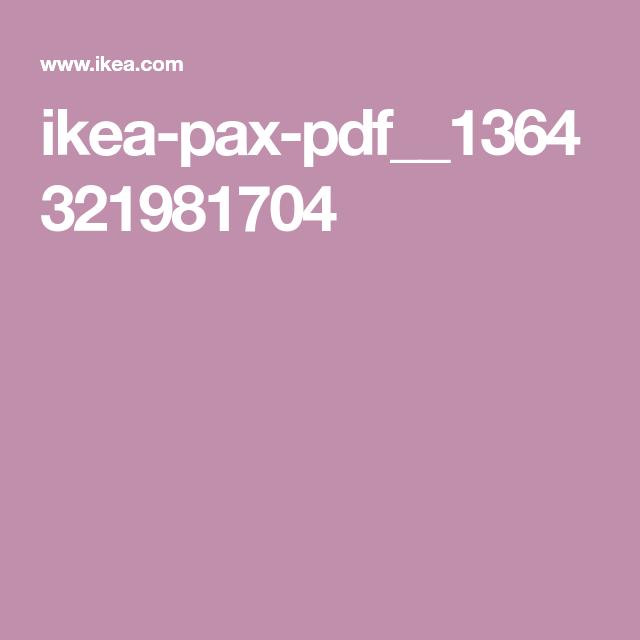 Ikea Pax Pdf 1364321981704 Ikea Pax Pax Ikea