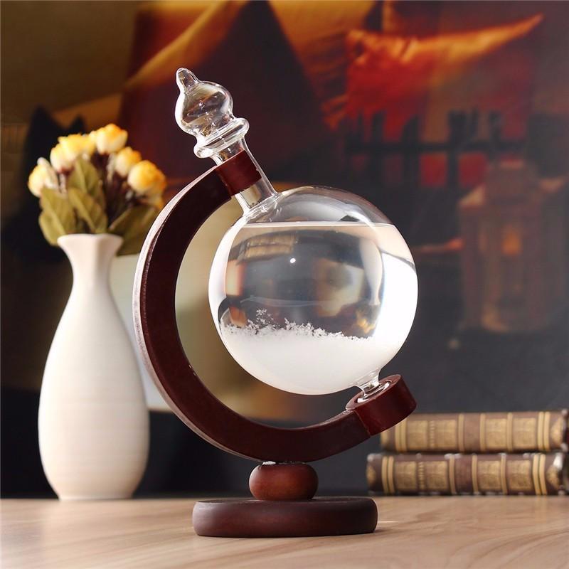 Crystal Storm Glass Desktop Weather Forecaster Home Decor