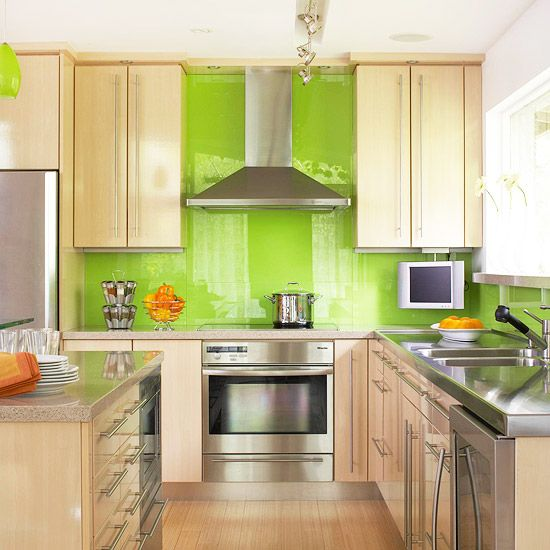 Kitchen Backsplash Green coolest lime green glass tile backsplash | my home design journey