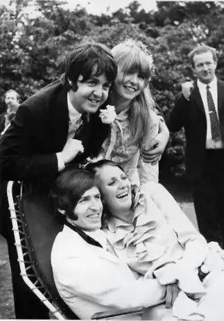 Paul And Jane Asher At Brother Mike McCartneys Wedding